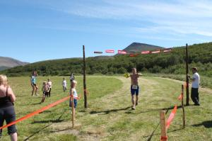 The Four Forest run - the finish line !
